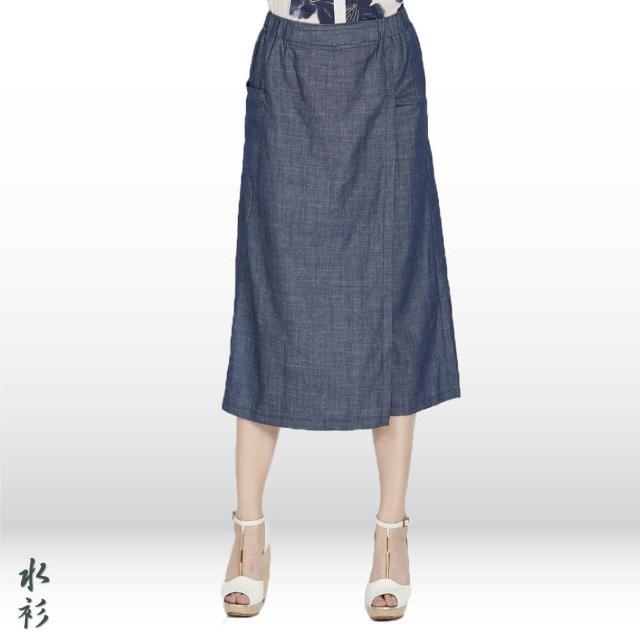 【水衫】輕丹寧牛仔裙褲二件組(H03-46)