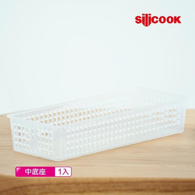 【韓國Silicook】保鮮收納盒中底座387x153x73mm(一入)