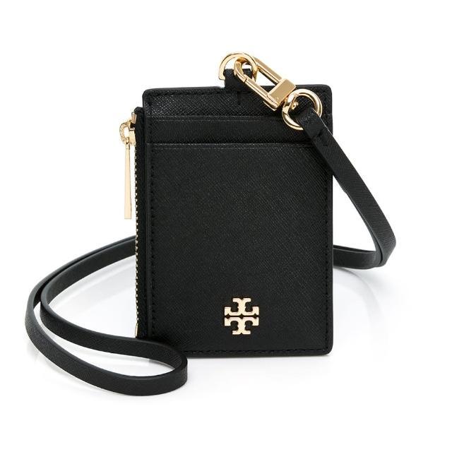 【TORY BURCH】經典LOGO 證件套/票卡夾(黑)