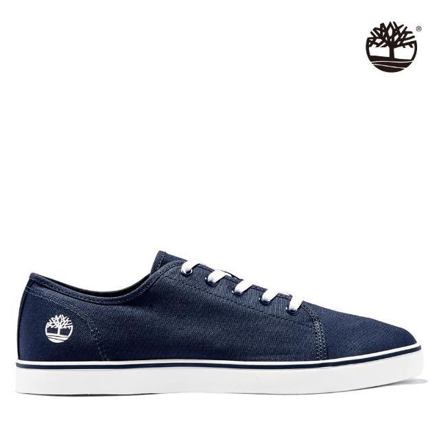 【Timberland】男款海軍藍帆布牛津鞋(A1XE6019)
