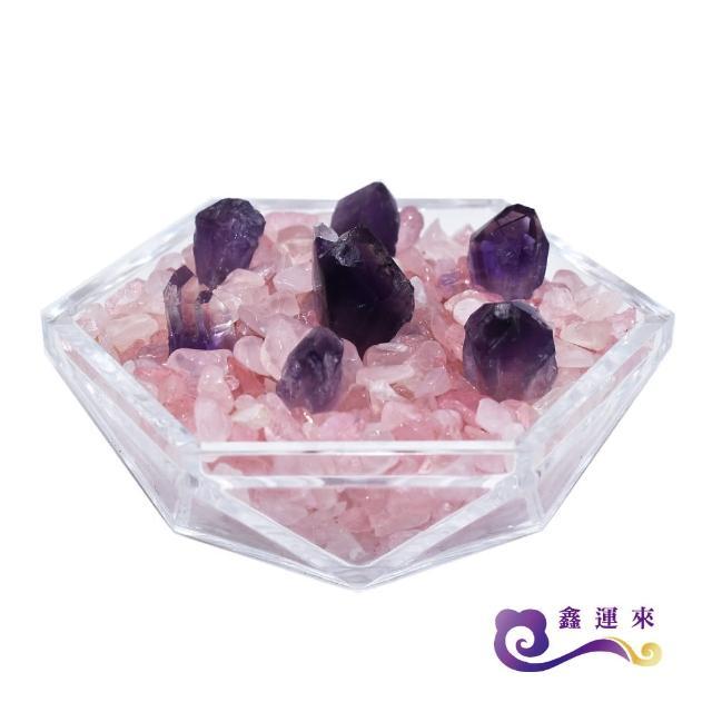 【鑫運來】稀有骨幹紫晶粉晶七星盤(增加貴人運)