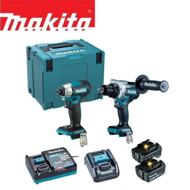【MAKITA 牧田】18V鋰電無刷雙機組-起子電鑽+衝擊起子機(DLX2443JX1)