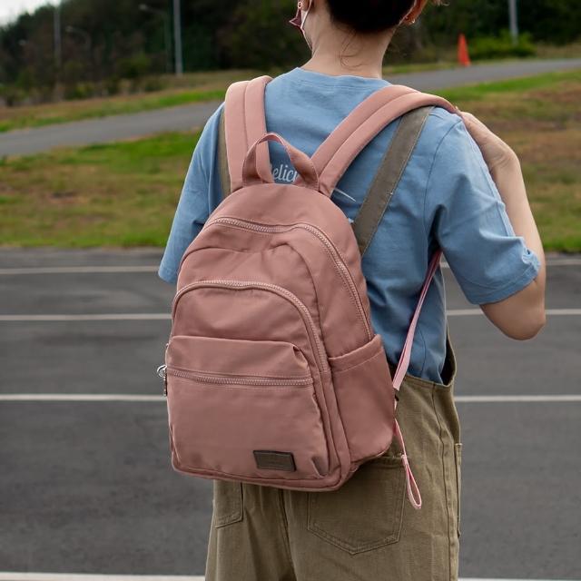【J II】後背包-多隔層防潑水後背包-玫瑰金-6390-5(後背包)