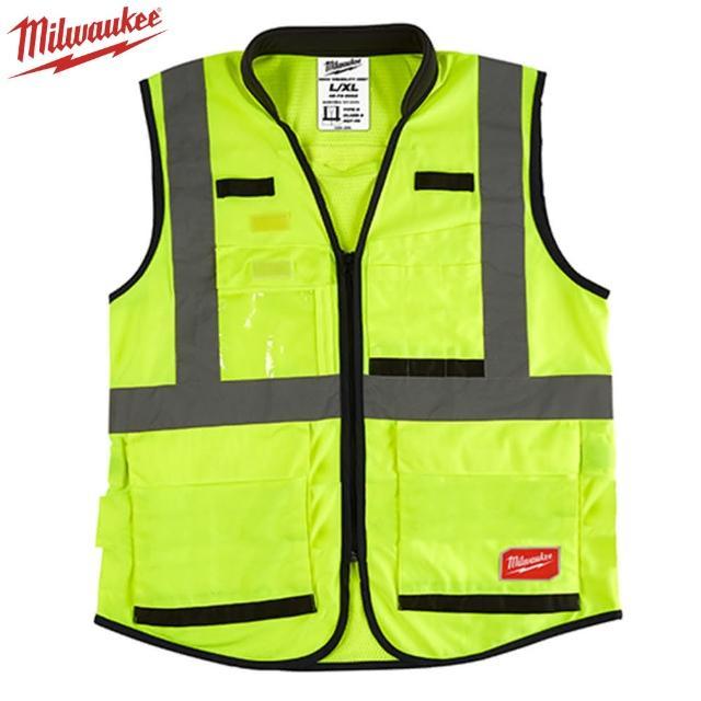 【Milwaukee 美沃奇】15口袋工程反光背心-綠色(48-73-5081、5082)