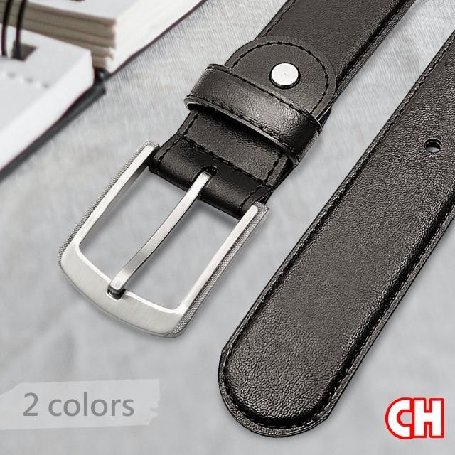 【CH-BELT 銓丞皮帶】簡約造型加分時尚中性休閒皮帶腰帶(咖)