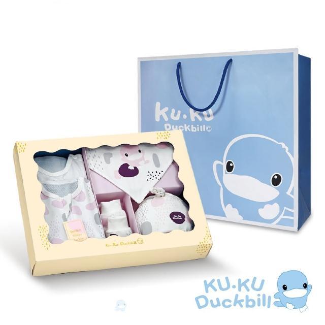 【KU.KU. 酷咕鴨】超好眠洞洞成長包巾旗艦禮盒6件組(藍點印記/粉彩印記)