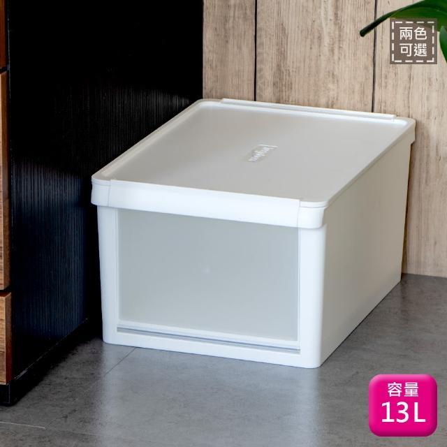 【SHUTER 樹德】樹德全開式整理盒13L-1入鞋櫃鞋盒B13