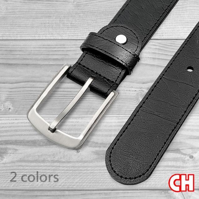 【CH-BELT 銓丞皮帶】新潮流時尚風格休閒皮帶腰帶(黑)