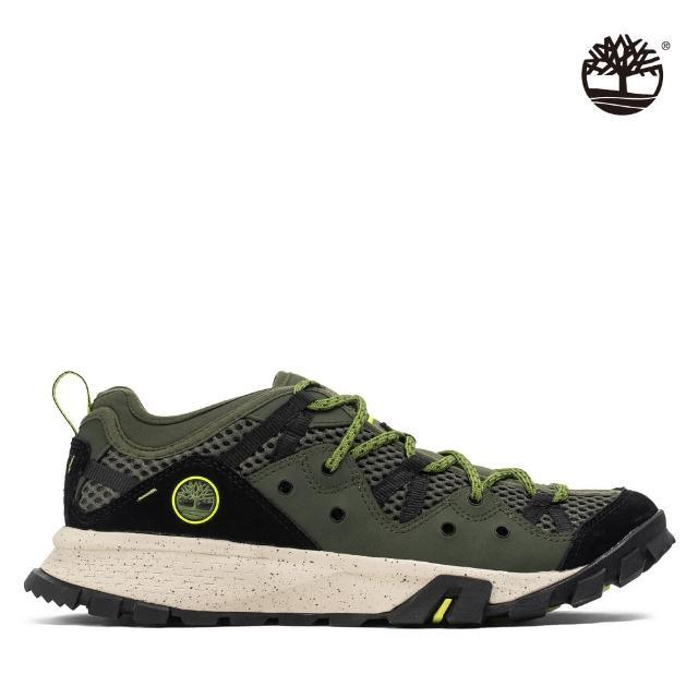 Timberland【Timberland】男款深綠色網眼低筒健行鞋(A29D7A58)