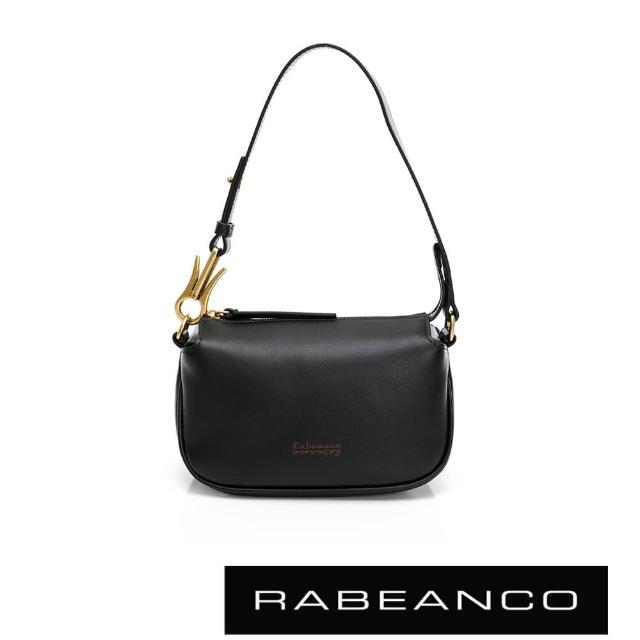 【RABEANCO】HAVEN牛皮手拿/肩背包(黑色)