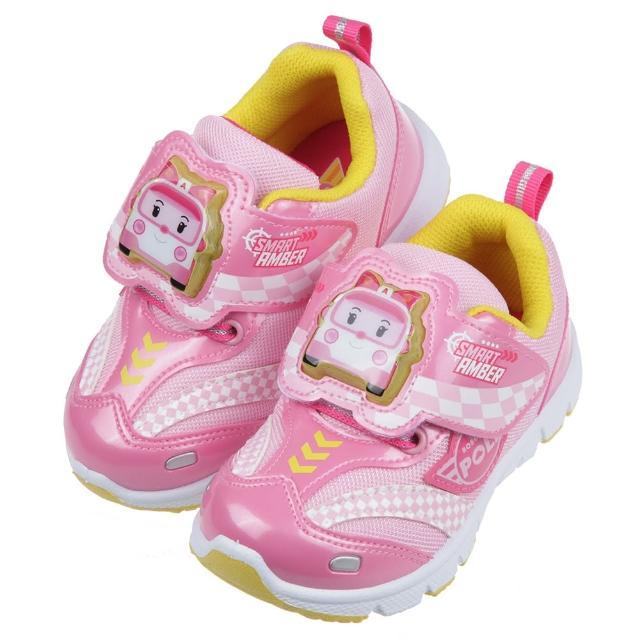 【布布童鞋】POLI救援小英雄安寶粉色賽車兒童電燈運動鞋(B1G253G)