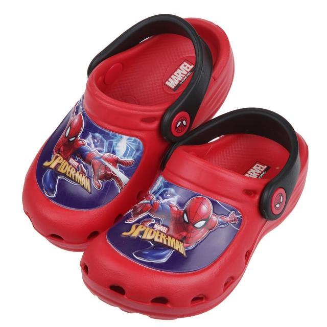 【布布童鞋】Marvel暗影蜘蛛人黑紅色兒童布希鞋(B1D502A)