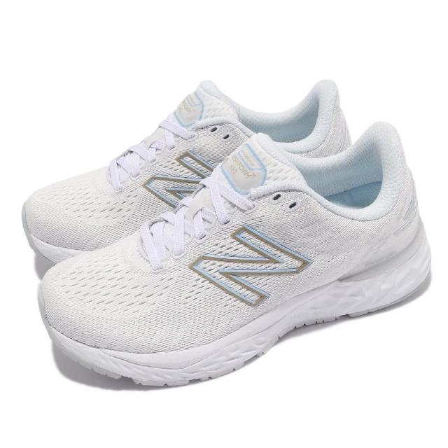 【NEW BALANCE】慢跑鞋 880 v11 D 寬楦 女鞋 紐巴倫 路跑 緩震 輕量 透氣 白 藍(W880A11D)