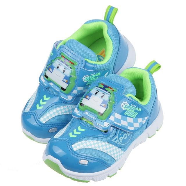 【布布童鞋】POLI救援小英雄波力藍色賽車兒童電燈運動鞋(B1B256B)