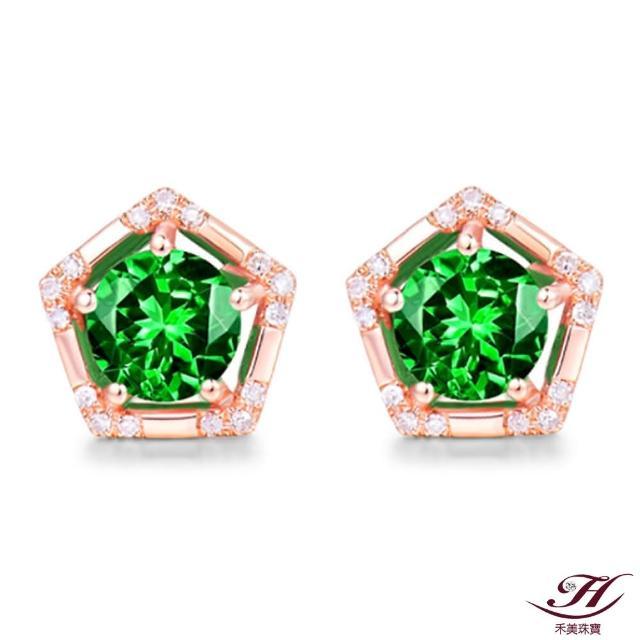【禾美珠寶】天然沙佛萊石耳環YS501(18K金)