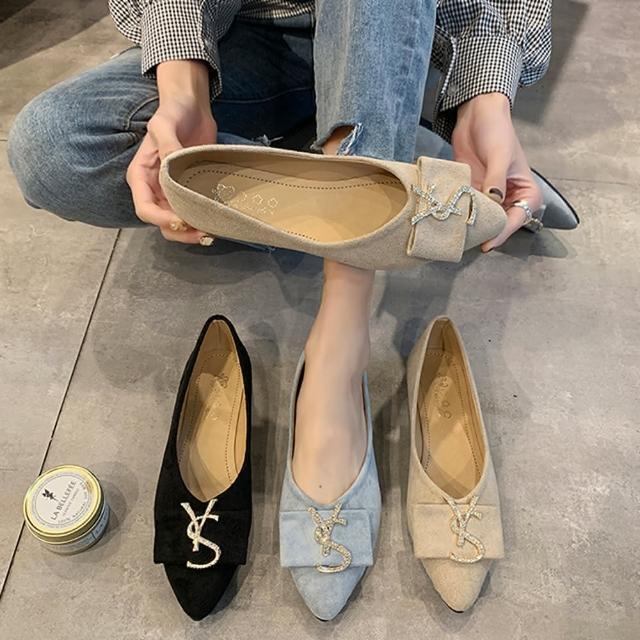 【K.W.】獨賣韓妞必備尖頭平底鞋-通勤鞋/平底鞋(共3色)