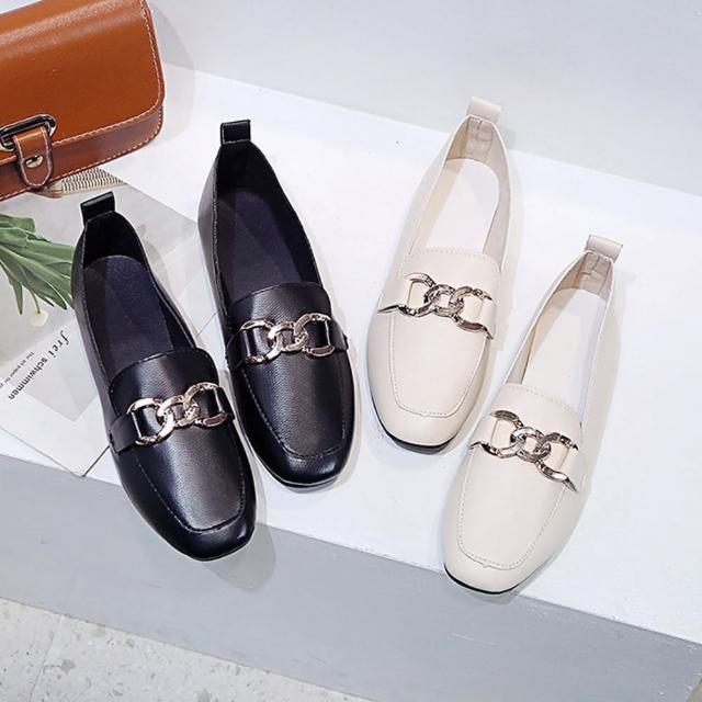【K.W.】獨賣話題單品樂福鞋-通勤鞋/皮鞋(共2色)
