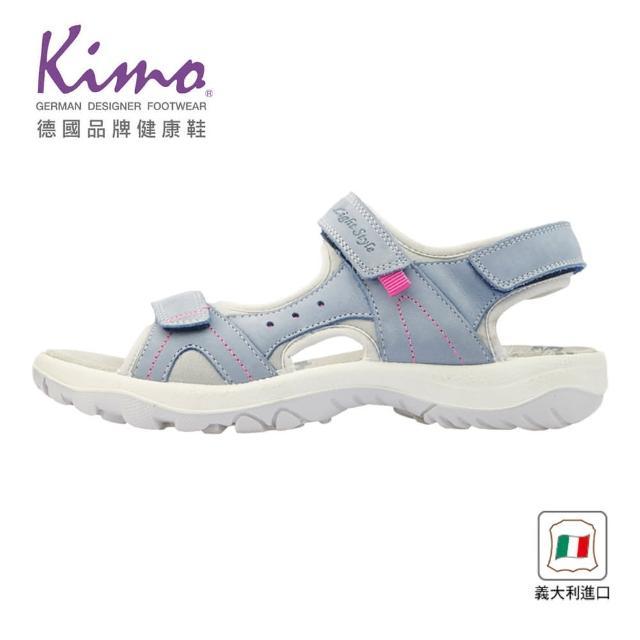【Kimo】義大利製造舒適牛皮涼鞋 女鞋(淺藍 7090003069)
