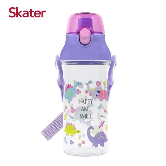【Skater】直飲透明水壺480ml(恐龍紫)