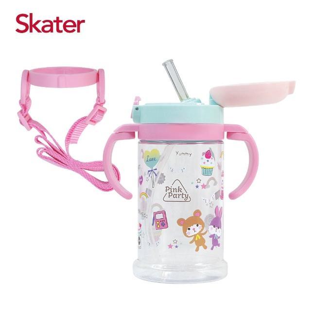 【Skater】寬底吸管杯-370ml(粉紅派對)