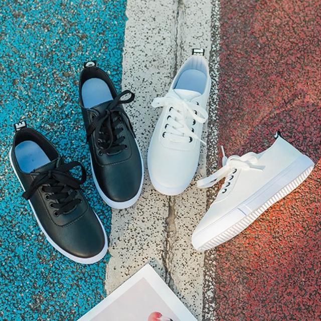 【K.W.】獨賣簡約厚底柔軟舒小白鞋-輕量/運動鞋/休閒鞋(共2色)