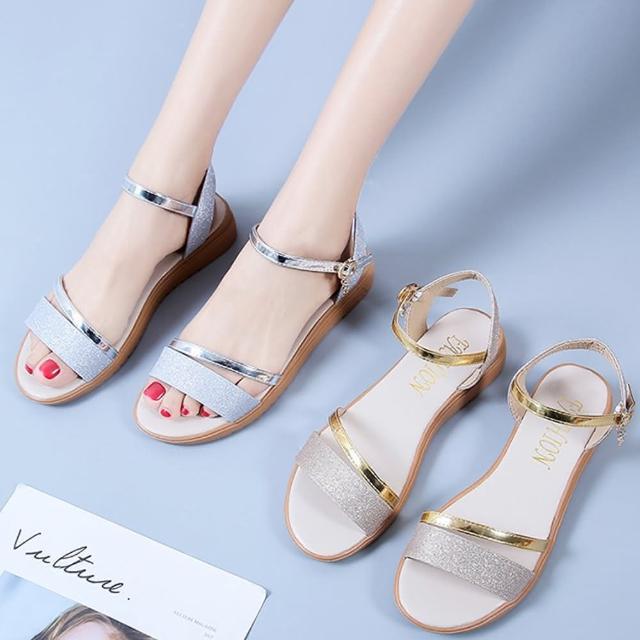 【K.W.】獨賣通勤必備涼鞋-涼鞋/涼跟鞋(共2色)