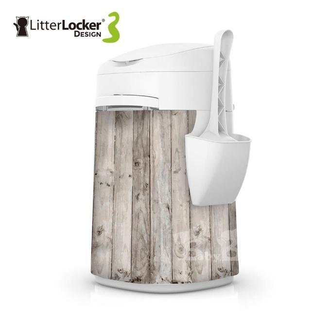 【Litter Locker】Design第三代貓咪鎖便桶(木紋款/貓貼紙款/貓腳印款)