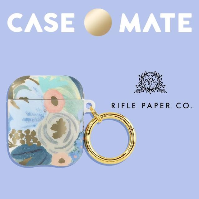 【CASE-MATE】AirPods 1-2代 抗菌保護套 贈扣夾 - Rifle Paper Co.聯名款(路易莎)