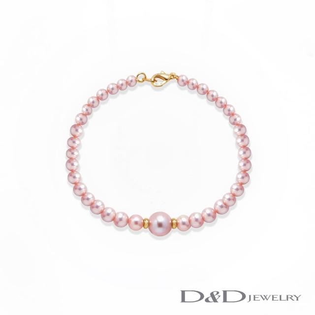 【D&D JEWELRY】日系典雅天然珍珠手鍊(紫珠)