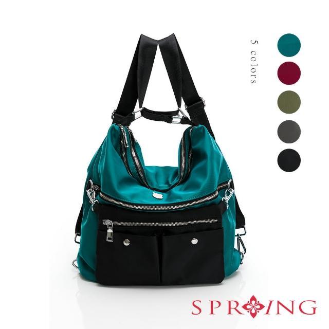 【SPRING】經典質感尼龍系列3way斜背後背包(多色)