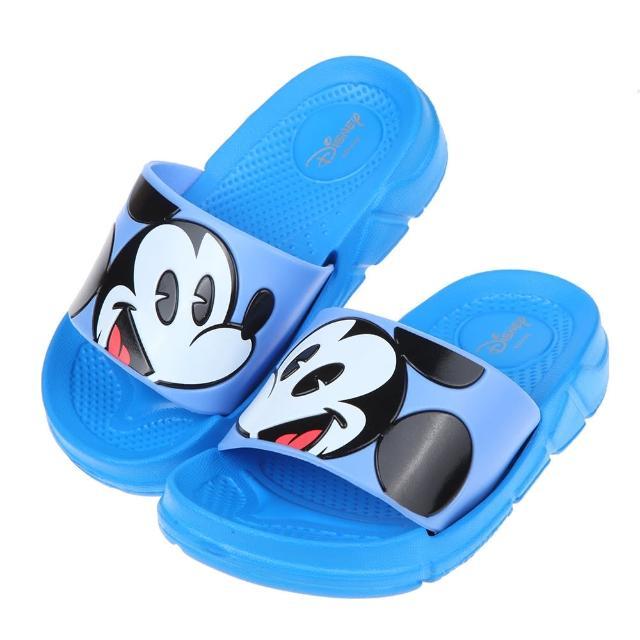 【布布童鞋】Disney米老鼠米奇藍色兒童輕量拖鞋(D1B247B)