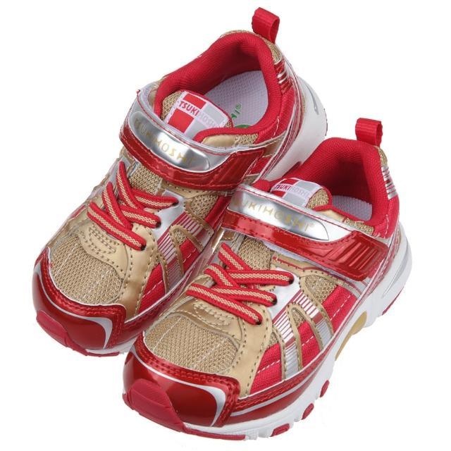 【布布童鞋】日本TSUKIHOSHI風暴岩漿金紅色兒童機能運動鞋(I1G0A3A)