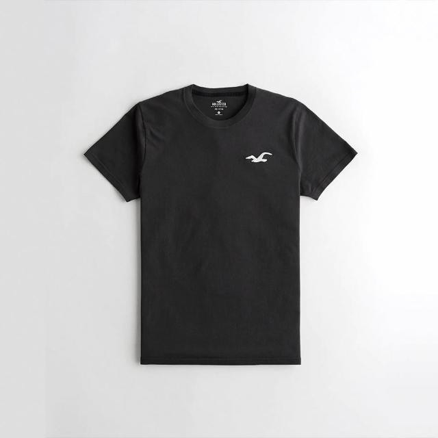 【HOLLISTER Co】Hollister 海鷗 經典刺繡大海鷗素面短袖T恤-深灰色