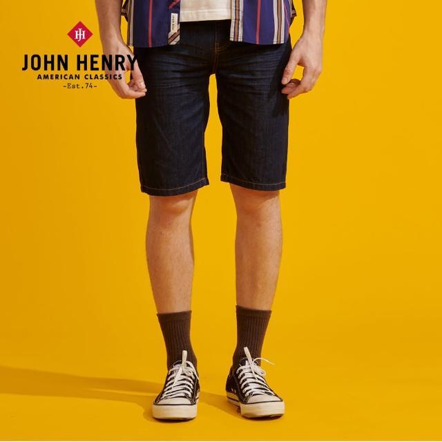 【JOHN HENRY】復古黃車線牛仔短褲