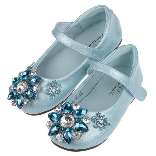 【布布童鞋】冰晶鑽石水藍色兒童公主鞋(Q1G116B)