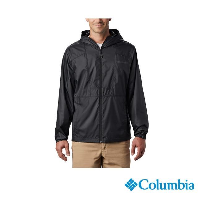 【Columbia 哥倫比亞】男款-防小雨風衣黑色(活動款 / 防小雨.防潑水)