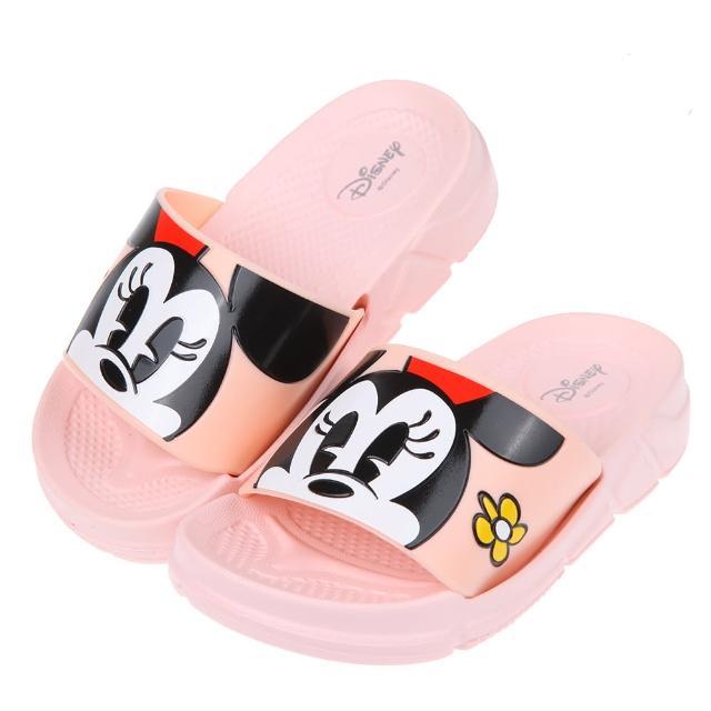【布布童鞋】Disney米老鼠米妮與小花粉色兒童輕量拖鞋(D1G248G)