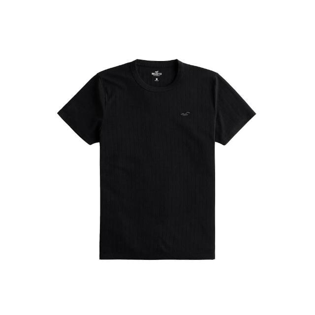 【HOLLISTER Co】Hollister 海鷗 經典刺繡海鷗素面短袖T恤-黑色