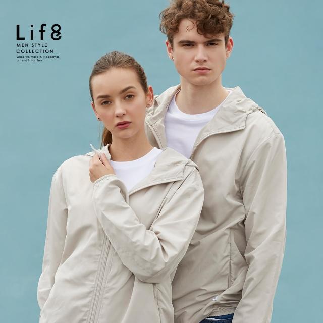 【Life8】Casual 小沙包收納 抗曬防潑水連帽外套(10516)