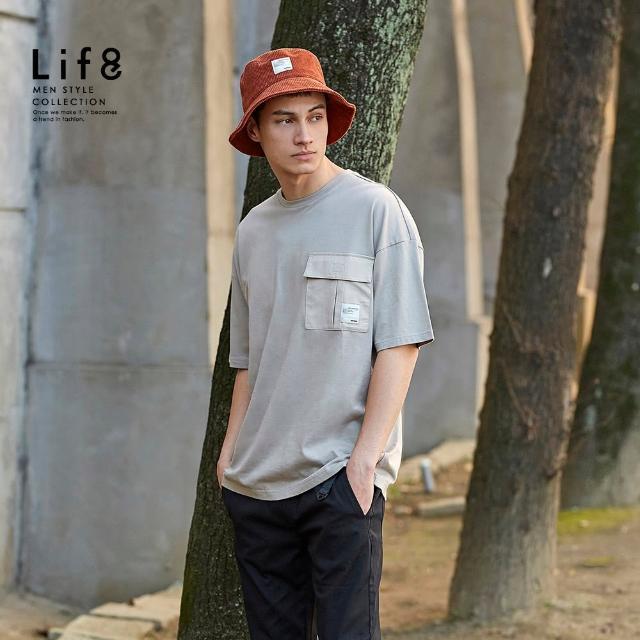 【Life8】Casual 立體工裝口袋 短袖上衣(10456)