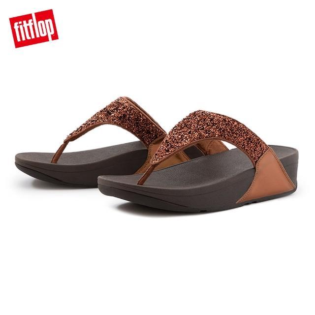 FitFlop【FitFlop】LULU SHIMMERFOIL TOE-THONGS 經典夾腳涼鞋-女(銅金色)