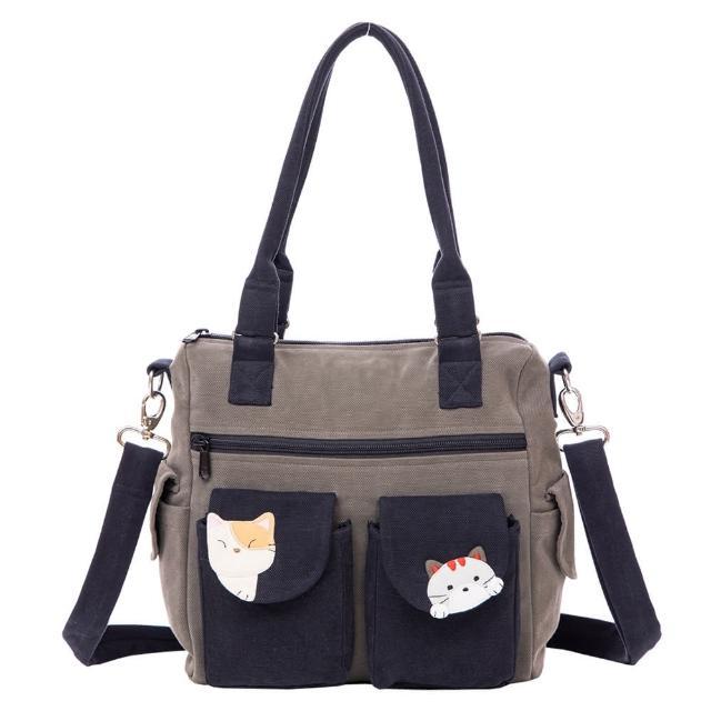 【KIRO 貓】貓朋友 休閒 外出 手提/肩背/斜背包/三用包(810102)