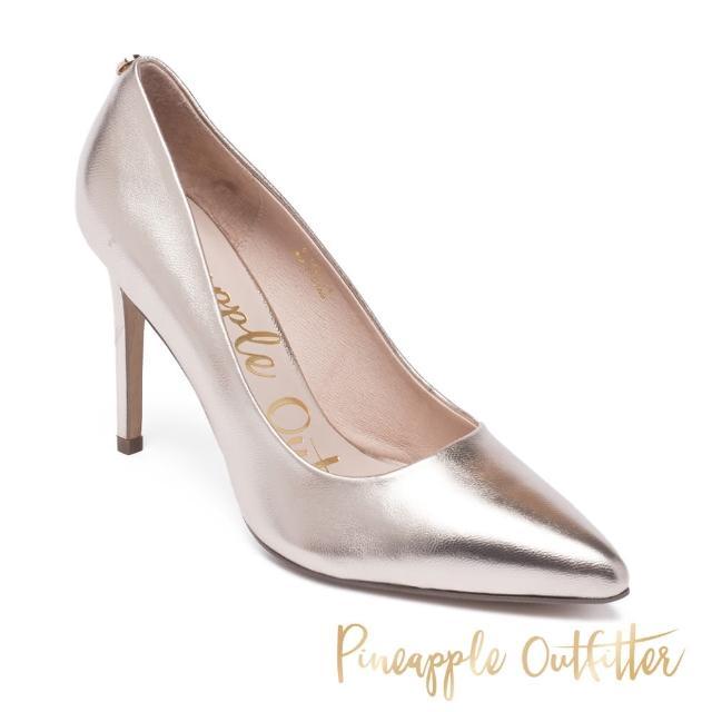 【Pineapple Outfitter】GABRIELA 羊皮素面尖頭高跟鞋(金銅色)