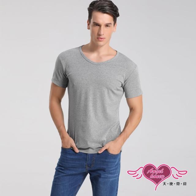 【Angel 天使霓裳】簡約時尚 短袖彈性透氣運動上衣 內搭T恤 健身(灰M-2L)