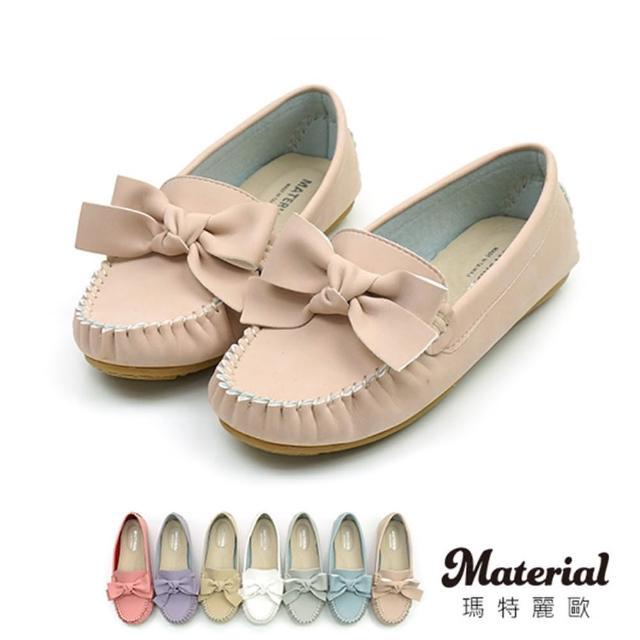 【MATERIAL】包鞋 甜美蝴蝶結豆豆鞋 真皮鞋墊 MA女鞋 T11903(包鞋)