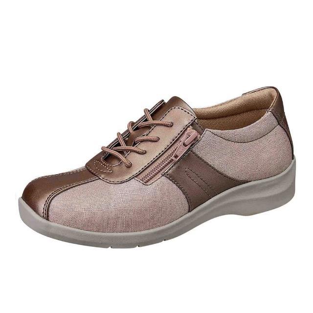 【MOONSTAR 月星】柔軟宣言系列-4E寬楦舒緩平衡休閒鞋(可可)