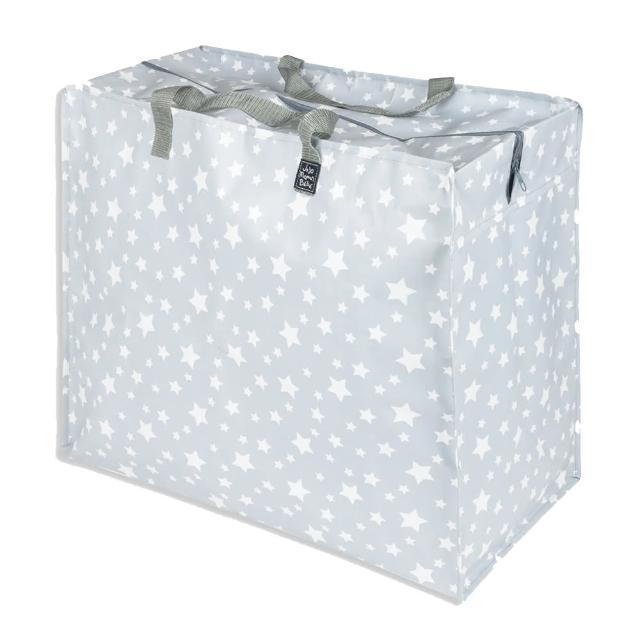 【JoJo Maman BeBe】超大多功能收納袋可收納衣物/棉被/用品_灰白星空(JJE7128)