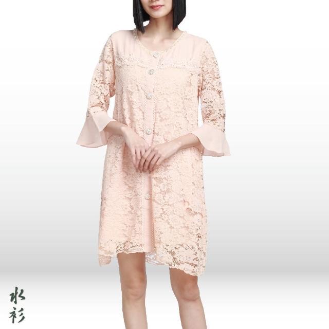【水衫】骨幹蕾絲洋裝罩衫二件組(J03-20)