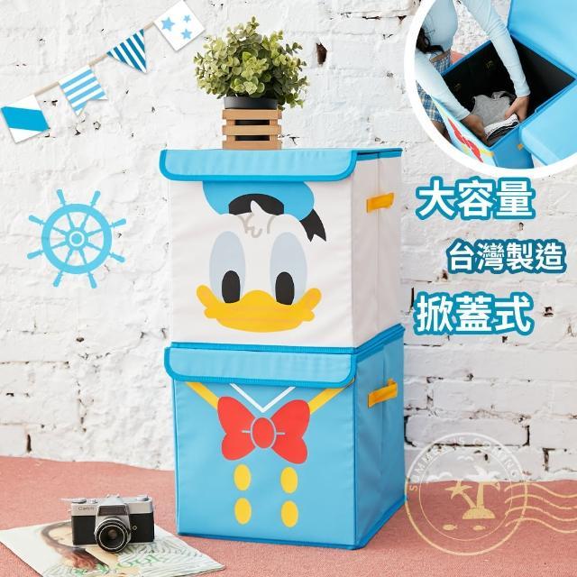 【收納王妃】[迪士尼]唐老鴨方形大臉摺疊收納箱/置物箱/整理箱(換季收納必備)