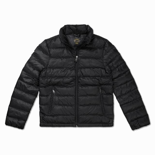 【RALPH LAUREN】Polo Ralph Lauren 年度熱銷防風防潑水保暖立領羽絨外套-女-黑色